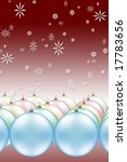 christmas ornaments and... | Shutterstock . vector #17783656