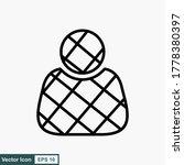outline profile vector icon....