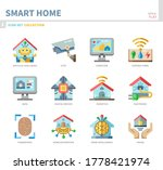 smart home icon set flat style... | Shutterstock .eps vector #1778421974