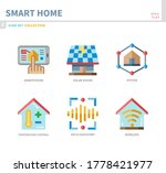 smart home icon set flat style... | Shutterstock .eps vector #1778421977
