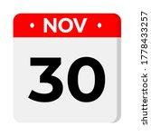 november 30   calendar icon....   Shutterstock .eps vector #1778433257