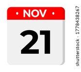 november 21 calender flat icon... | Shutterstock .eps vector #1778438267