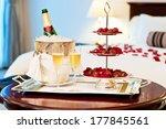 honeymoon suite with chocolate... | Shutterstock . vector #177845561
