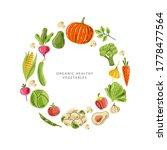 vector vegetables in round...   Shutterstock .eps vector #1778477564