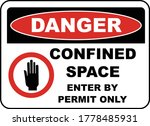 danger enter by permit only... | Shutterstock .eps vector #1778485931