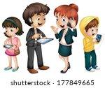illustration of family using... | Shutterstock .eps vector #177849665