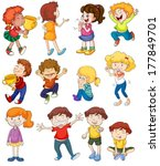 illustration of kids in winning ... | Shutterstock .eps vector #177849701