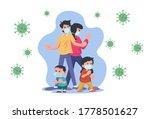 family wearing concept vector...   Shutterstock .eps vector #1778501627