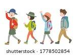 4 men and women walking happily ... | Shutterstock .eps vector #1778502854