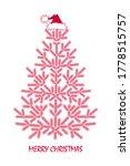red elegant linear christmas... | Shutterstock .eps vector #1778515757