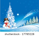 christmas design with snowman | Shutterstock .eps vector #17785228