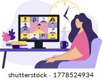 conference video call  remote... | Shutterstock .eps vector #1778524934