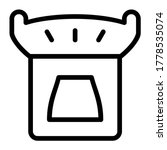 brazier. icon with outline...