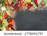 Vegan Super Food Background...