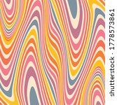 wavy retro colorful abstract... | Shutterstock .eps vector #1778573861