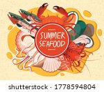 seafood dish salmon fish crab... | Shutterstock .eps vector #1778594804