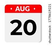 august 21 flat calendar icon...   Shutterstock .eps vector #1778619221