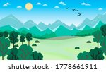 deciduous trees among fields... | Shutterstock . vector #1778661911