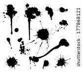 drip splatter paint  grunge... | Shutterstock .eps vector #177868121