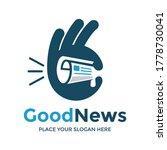 good news vector logo template. ... | Shutterstock .eps vector #1778730041