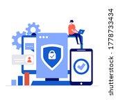 cyber security vector... | Shutterstock .eps vector #1778733434