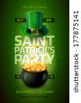 background,bar,black,cash,celebration,clover,coin,colorful,currency,day,design,flyer,full,gold,golden