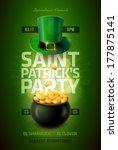 vector st. patrick's day poster ... | Shutterstock .eps vector #177875141