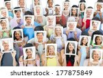 multi ethnic group of people... | Shutterstock . vector #177875849
