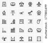 amusement park icons | Shutterstock .eps vector #177881699