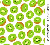 seamless pattern with kiwi....   Shutterstock .eps vector #1778828411