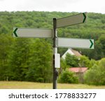 Signposts On A Country Road....