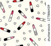 lipstick seamless pattern | Shutterstock .eps vector #177886439