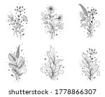 hand drawn bunches set isolated ... | Shutterstock .eps vector #1778866307
