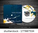 abstract splash style cd cover... | Shutterstock .eps vector #177887534