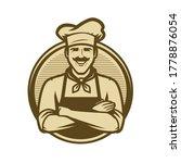 chef logo or vintage emblem.... | Shutterstock .eps vector #1778876054