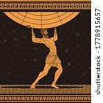 atlas holding the globe  black... | Shutterstock .eps vector #1778915657