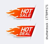 hot sale and hot deal labels.... | Shutterstock .eps vector #177899171