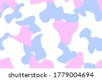 Seamless Camo Stain. Flat Pink...