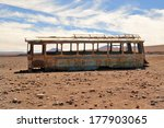 Abandoned Bus In The Desert ...