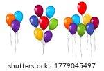 balloons 3d bunch set  thread ... | Shutterstock .eps vector #1779045497