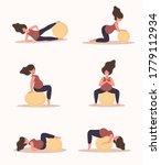 yoga during pregnancy.... | Shutterstock .eps vector #1779112934