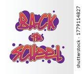 Back To School Graffiti Design