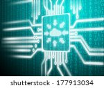 close up blue color button with ... | Shutterstock . vector #177913034