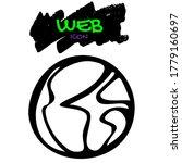 go to web vector doodle globe...