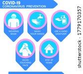 coronavirus preventive signs.... | Shutterstock .eps vector #1779170357