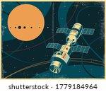 retro soviet space propaganda... | Shutterstock .eps vector #1779184964