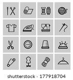 vector sewing equipment | Shutterstock .eps vector #177918704