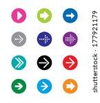 arrows sings  vector... | Shutterstock .eps vector #177921179