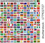 vector set of flags of world... | Shutterstock .eps vector #177922727