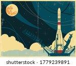 space rocket launch retro... | Shutterstock .eps vector #1779239891
